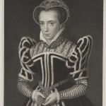 Engraved portrait of a young Queen Mary I.