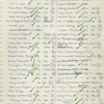 """List detailing participants for Fleur Cowles's """"The Flower Game."""""""