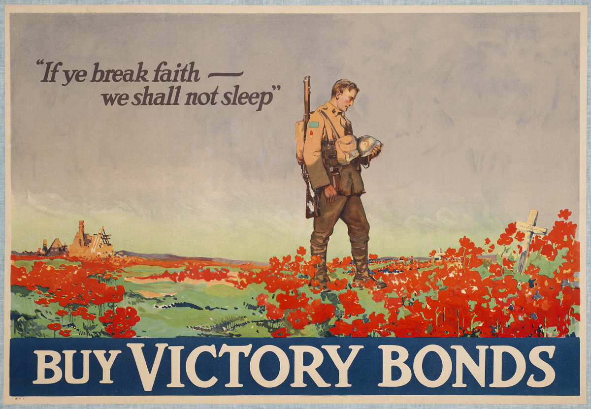 "In the Galleries: Frank Nicolet Lucien poster pays homage to poem ""In Flanders Fields"""