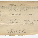 "Ed Ruscha's notes related to ""Twentysix Gasoline Stations."""