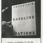 "Advertisement for Ed Ruscha's artist book ""Twentysix Gasoline Stations."""