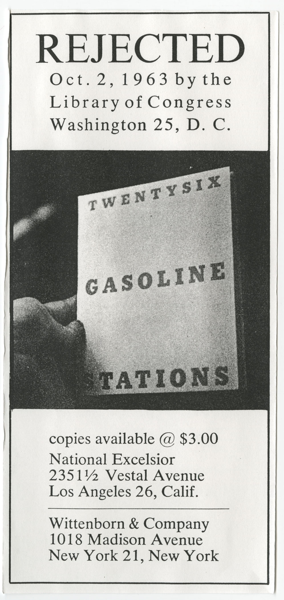 "In the archive: Ed Ruscha's ""Twentysix Gasoline Stations"""