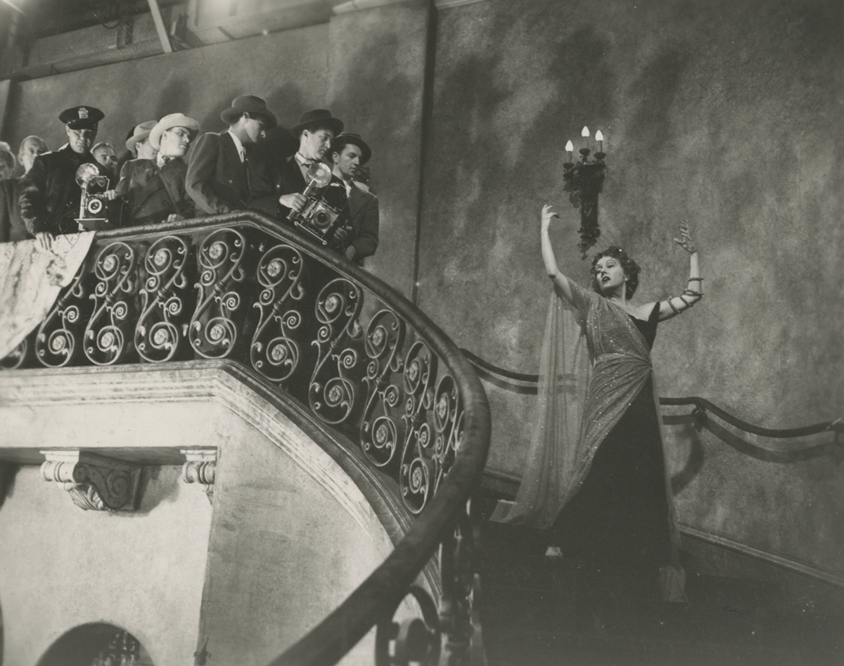 "Swanson as Norma Desmond in ""Sunset Boulevard."""