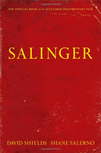 """Cover of """"Salinger"""" by David Shields and Shane Salerno."""