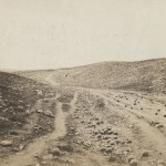 "Roger Fenton. ""The Valley of the Shadow of Death,"" 1855. Salted paper print from a paper negative."