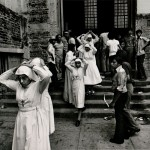 "Harry Mattison. ""Nuns Leaving the cathedral after the funeral of Archbishop Romero,"" March 30, 1980. Gelatin silver print."