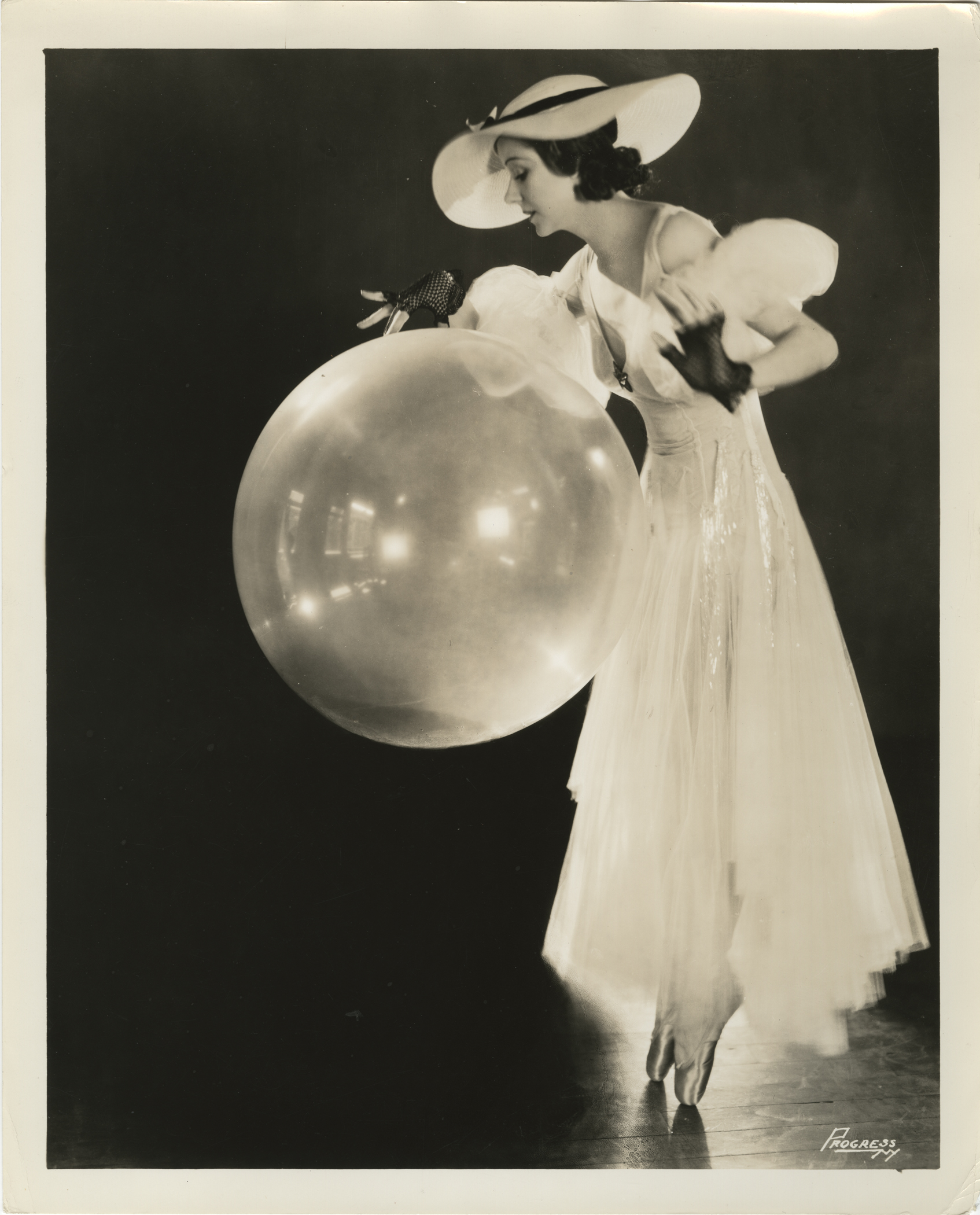 William Edward Elcha for Progress Studio. Helene Denizon with balloon, undated (ca. 1920s).