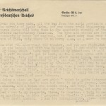 A letter from Lincoln Kirstein to Pavel Tchelitchew written on German stationary.