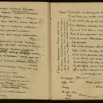 """Page from Boleslaw Lesmian's manuscript of """"Zdziczenie Obyczajow Posmiertnych."""""""