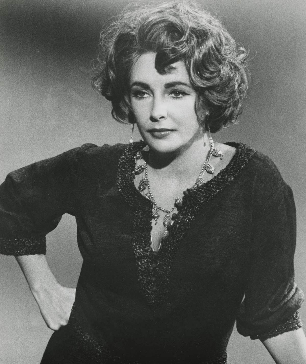 "Publicity still of Elizabeth Taylor in ""Who's Afraid of Virginia Woolf?"""