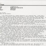 "T. C. Boyle's email response to interview questions posed by Ulrike Kramer, dated July 14, 2003, in which Boyle refers to his mentors as ""guiding lights"" and ""heroes"" and lists them."