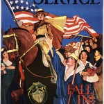 "Lucille Patterson. ""Service. National League for Women's Service. Fall In!"" ca. 1914–1918. Lithograph. 63.5 x 44 cm."