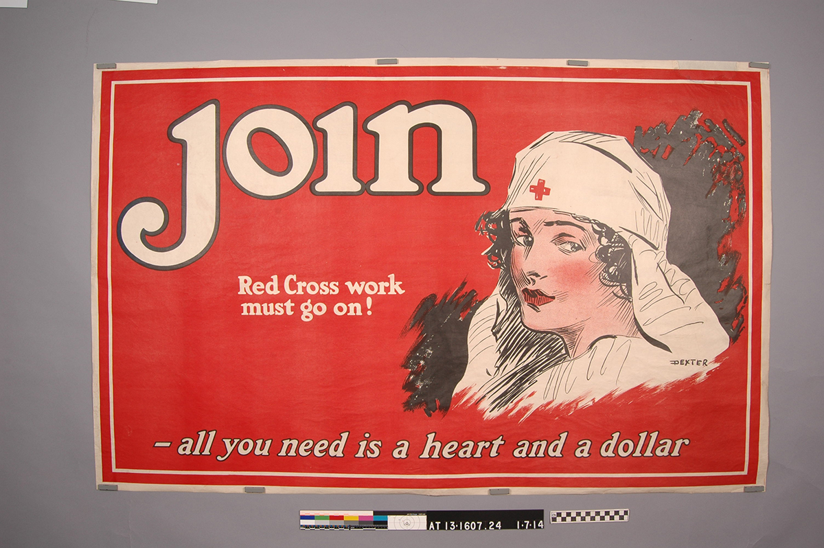 World War I Red Cross poster undergoes conservation treatment for exhibition