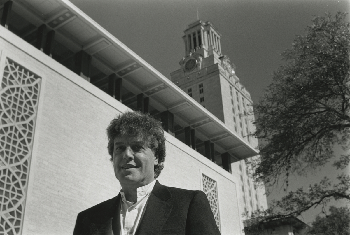 Tom Stoppard, whose archive resides at the Harry Ransom Center, on The University of Texas at Austin campus in 1996.