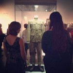 "Uniform in the gallery, for the opening of ""The World at War, 1914–1918."" Photo by Brooks Naylor."