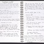 "Pages from Ian McEwan's notebook related to ""On Chesil Beach."""