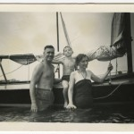 Photo of Ian McEwan as a young boy with his parents in Singapore, ca. 1954.