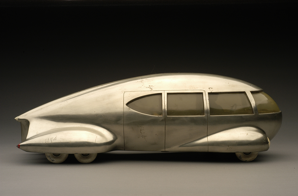 "Norman Bel Geddes, ""Motor Car No. 9 (without tail fin),"" ca. 1933."