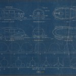 "Norman Bel Geddes. ""Motorcar No. 9 Blueprint."" Ca. 1932."