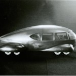 """Model of Norman Bel Geddes's """"Motorcar No. 9."""" Ca. 1933. Photo by Pete Smith."""