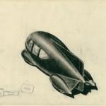 "Norman Bel Geddes. ""Motorcar No. 9 Rearview."" Ca. 1932."