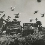 The French Army using carrier pigeons in the First World War. Photo from the New York Journal-American.