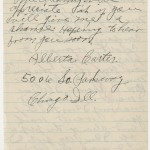 """Alberta Carter of Chicago, Illinois, writes in January 1938 to """"Gone With The Wind"""" producer David O. Selznick, asking him to consider her for the role of Mammy in the film."""