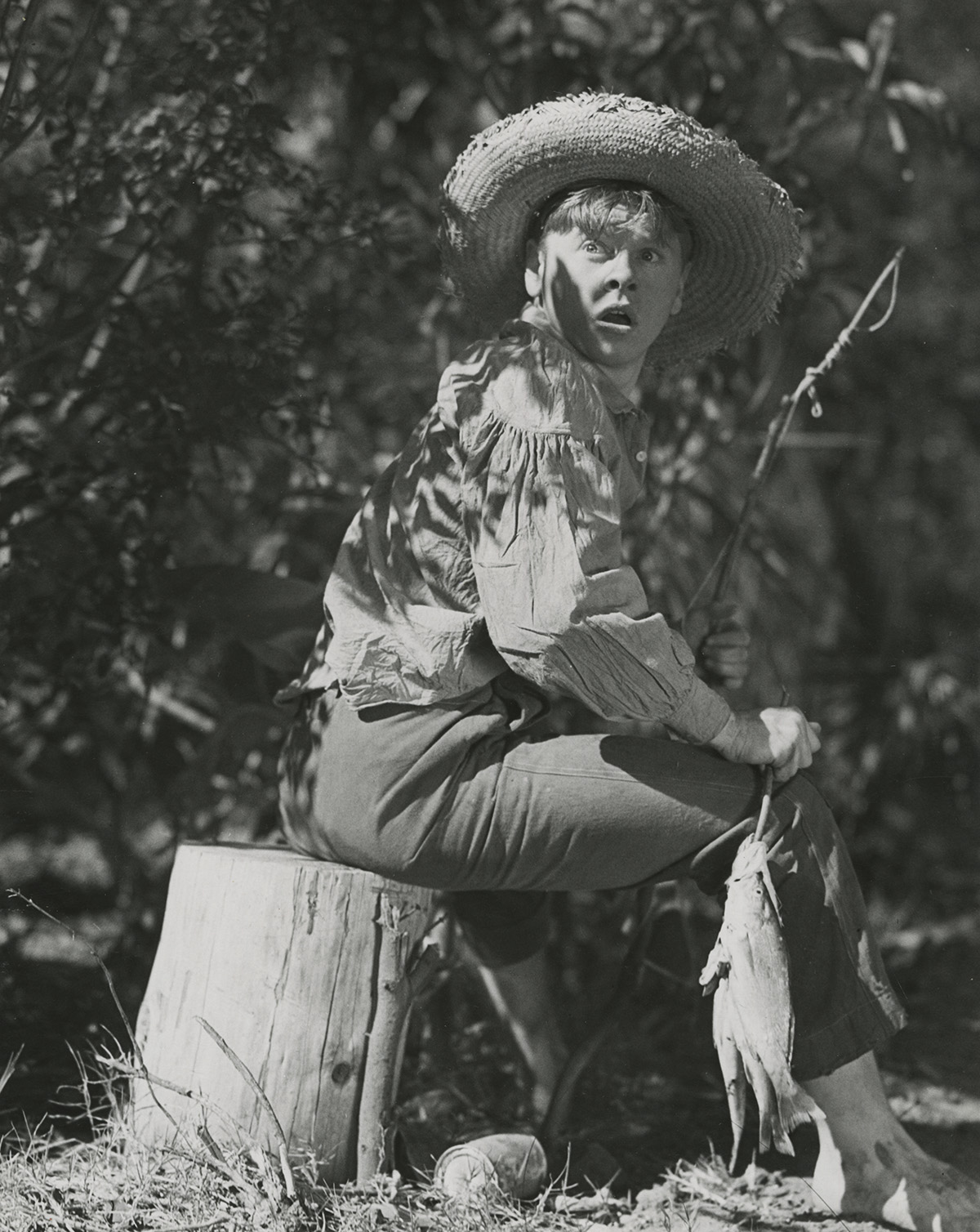 "Film still from ""The Adventures of Huckleberry Finn."""