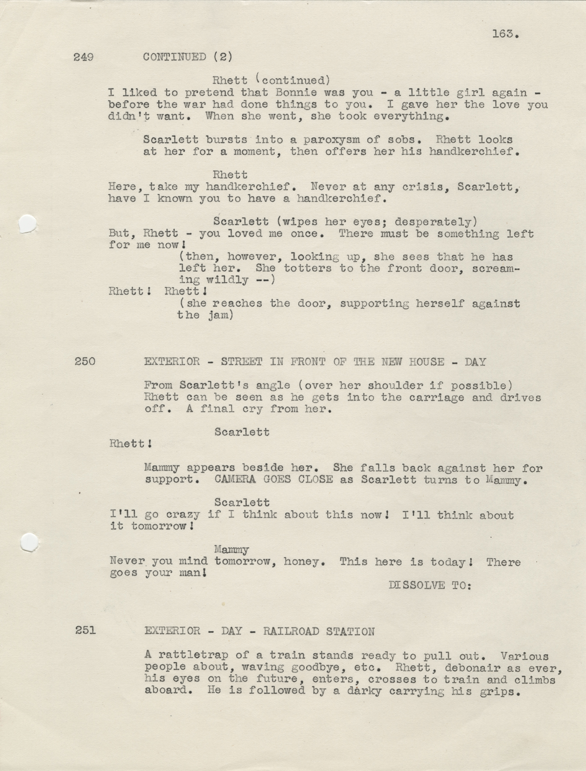 "In the Galleries: A discarded happy ending for ""Gone With The Wind"""