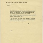 Memo from David O. Selznick concerning Frederics's dissatisfaction with the agreement, dated February 9, 1939.