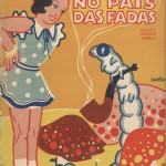 "Cover of 1930 Portuguese edition of Lewis Carroll's ""Alice's Adventures in Wonderland."""