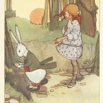 "Mabel Lucie Attwell illustration from a 1910 edition of Lewis Carroll's ""Alice's Adventures in Wonderland."""