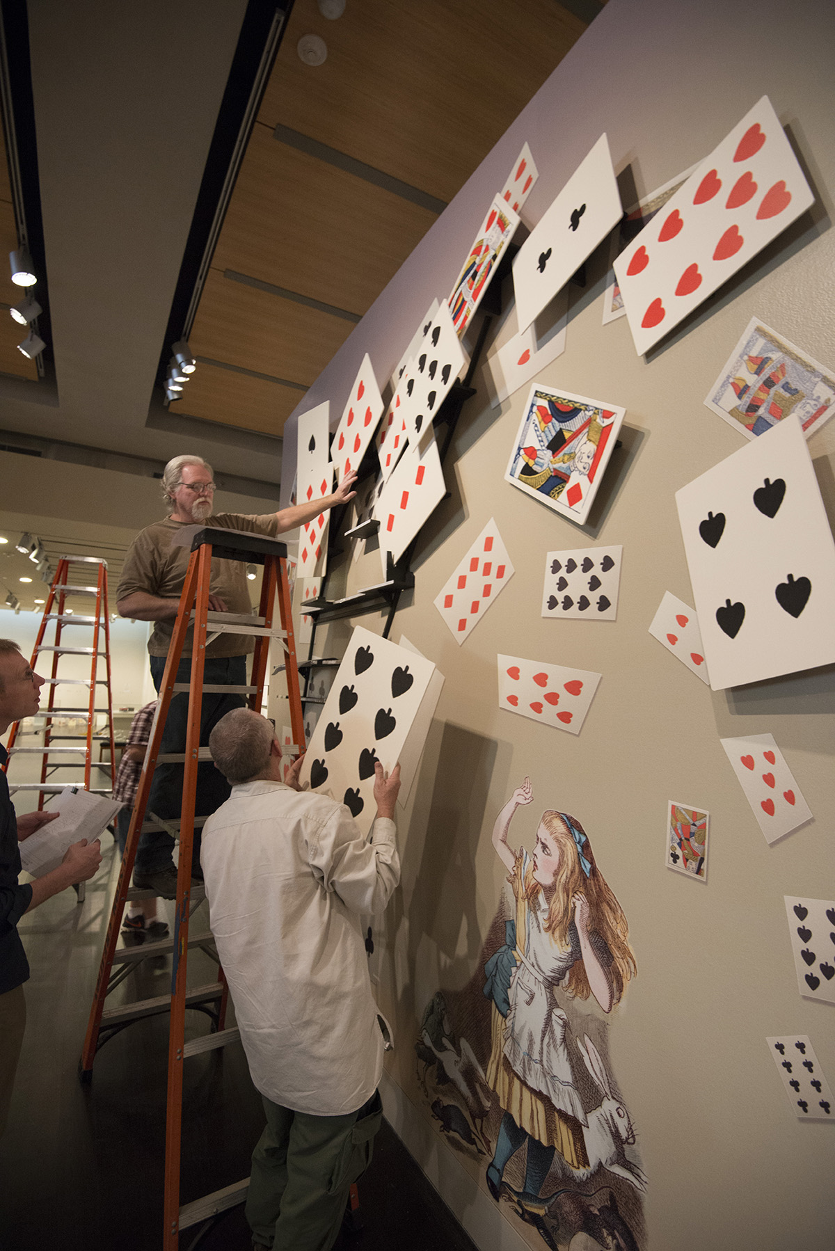 "Slideshow: See the exhibition ""Alice's Adventures in Wonderland"" come to life during installation"