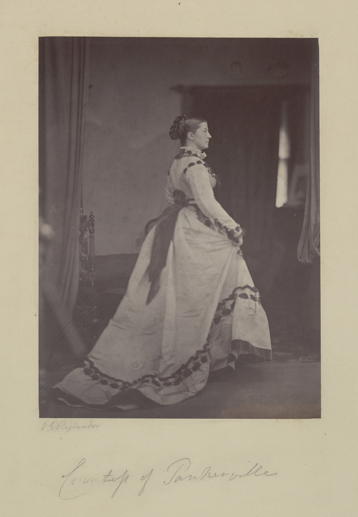 Oscar Gustave Rejlander, The Countess of Tankerville, 1866. Albumen print, 22.3 x 16.3 cm (image). Gernsheim collection.