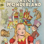 "A 1948 comic book format edition of ""Alice in Wonderland"" by Classics Illustrated."