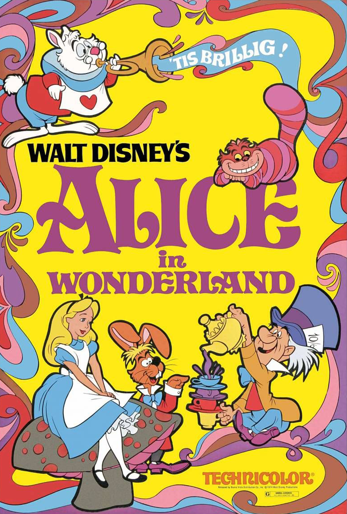 "Promotional poster for ""Alice in Wonderland"""