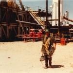 Ken Grant at a well site near Sierra Blanca, Texas. 1981. Photo by Richard Hautala.