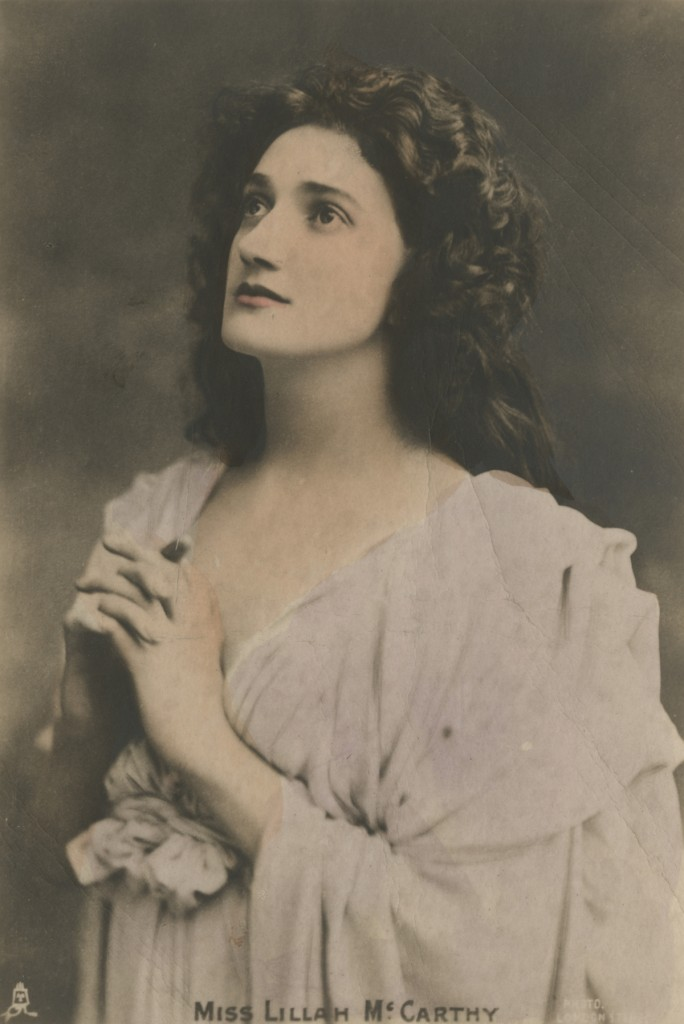 Postcard portrait of Lillah McCarthy.