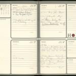 Ben Bradlee's 1973 desk diary.