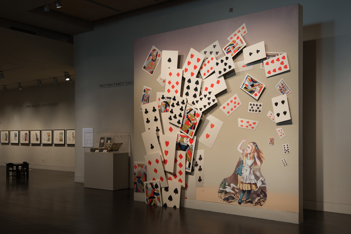 "View of the ""Alice's Adventures in Wonderland"" exhibition"