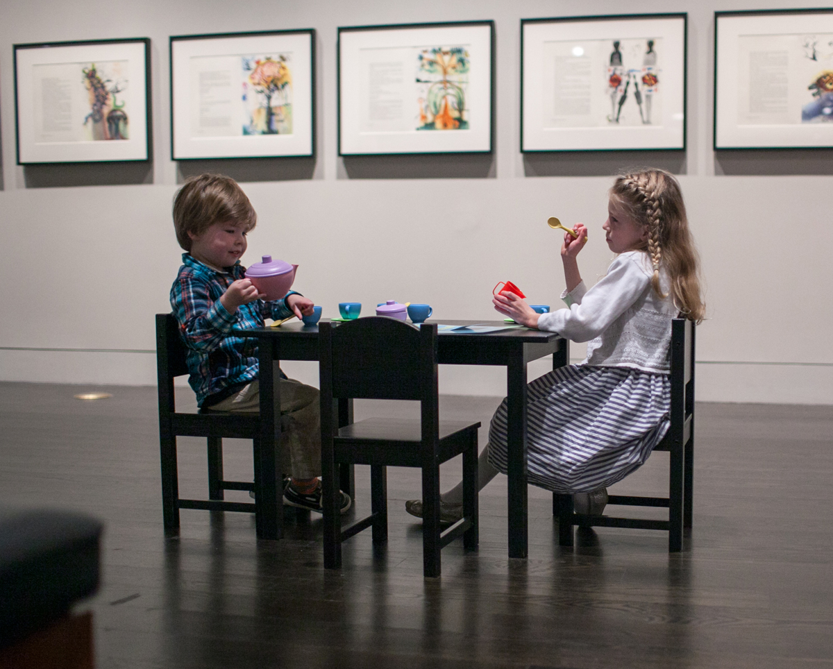 "Children enjoying the ""Alice's Adventures in Wonderland"" exhibition. Photo by Megan Barnard."