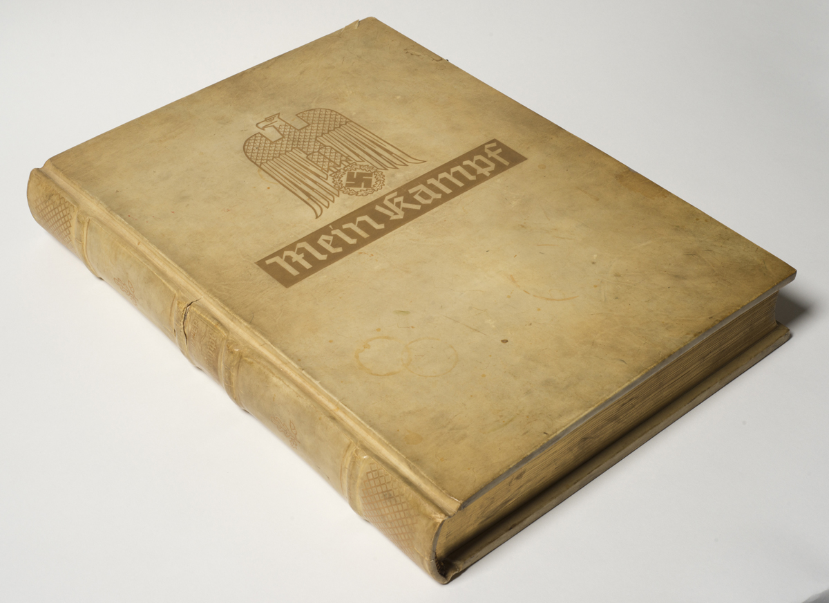 Muddy Bootprints on Himmler's Copy of Hitler's Mein Kampf