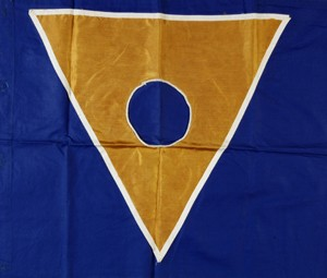 National flag of the Republic of New Atlantis. New Atlantis collection.