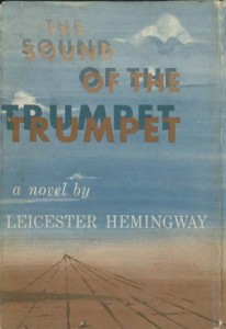 Cover art for a first edition of The Sound of the Trumpet (1953). Harry Ransom Center.