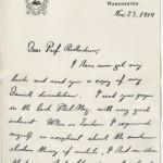 Niels Bohr. Letter to O. W. Richardson, November 23, 1914.