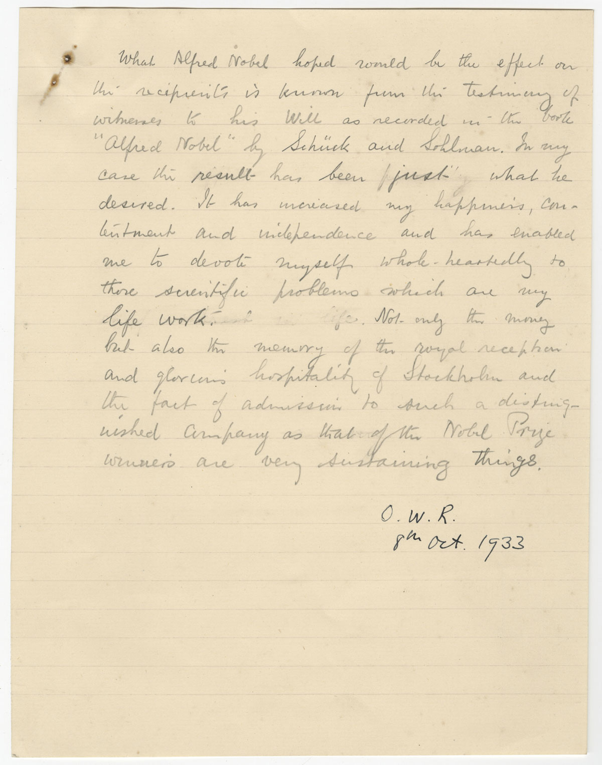 Preserving and Enhancing Access to Physicist Owen W. Richardson's Papers