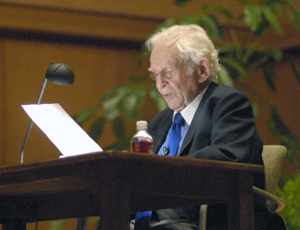 Photos of Norman Mailer from the Flair Symposium