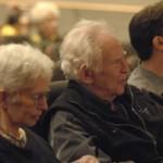 Norman Mailer with his sister, Barbara Mailer Wasserman, and son, John Buffalo Mailer, at the Flair symposium.