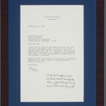 A framed letter from President Bill Clinton to Miller Williams, dated February 20, 1997.