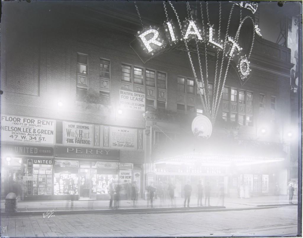 Photograph of the Rialto Theatre in New York City, taken around 1920 by White Studio.